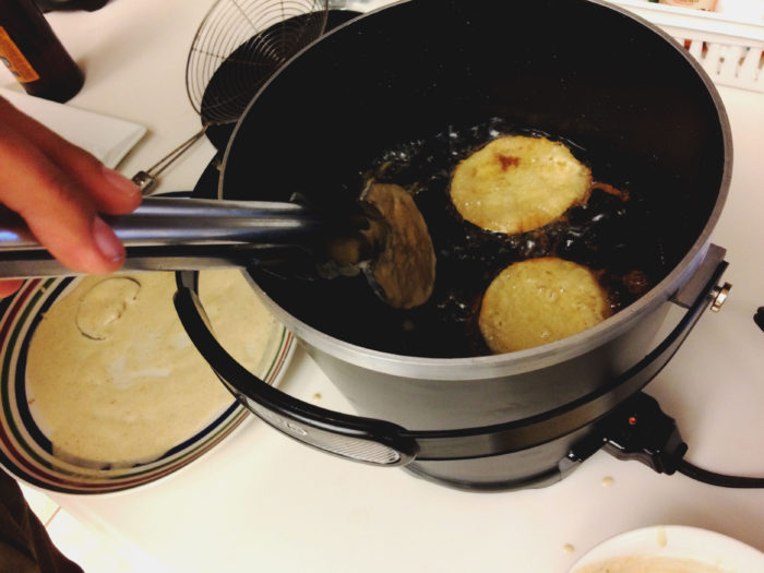cajun fried eggplant vegan recipe