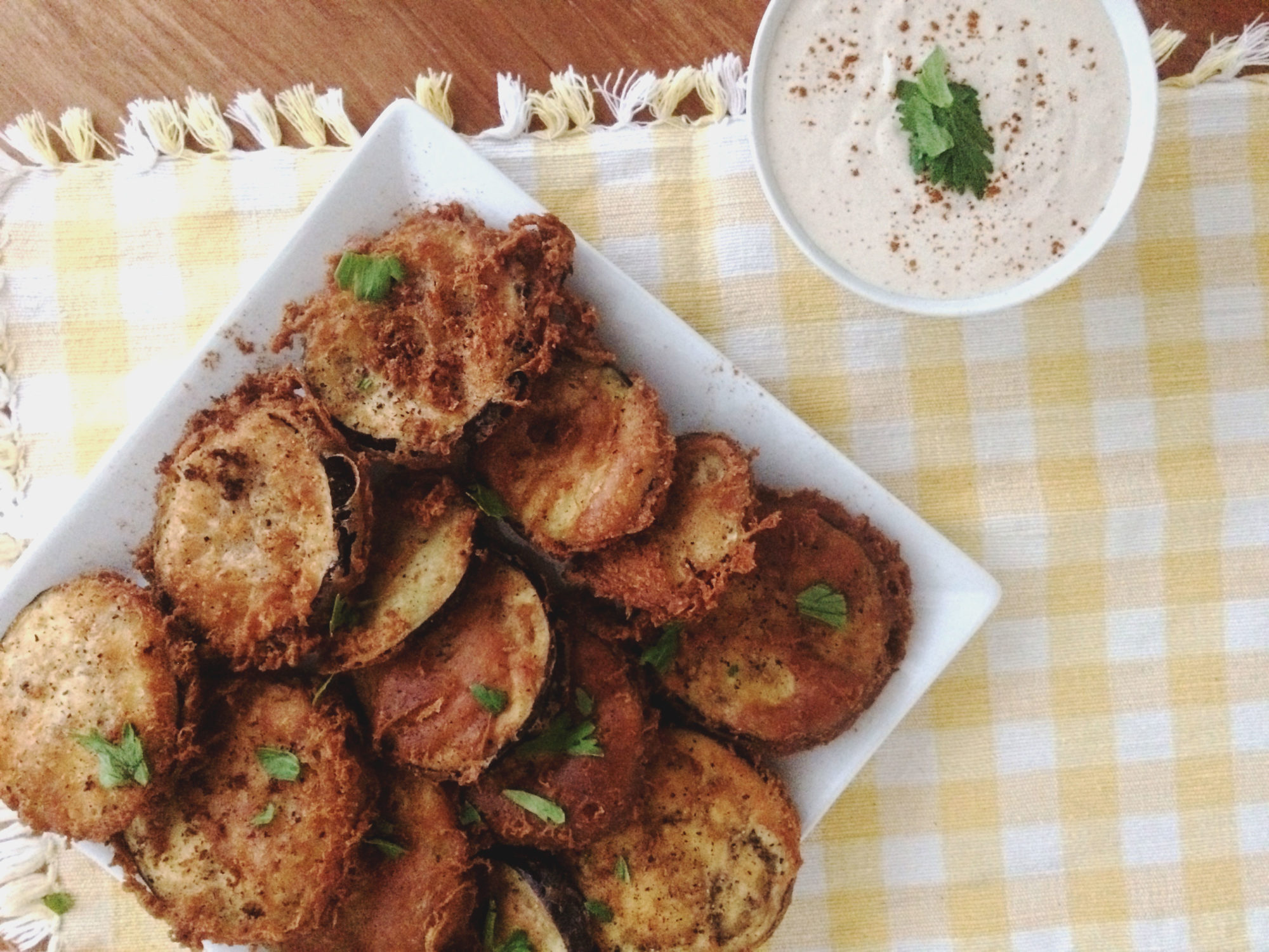 cajun fried eggplant vegan recipe