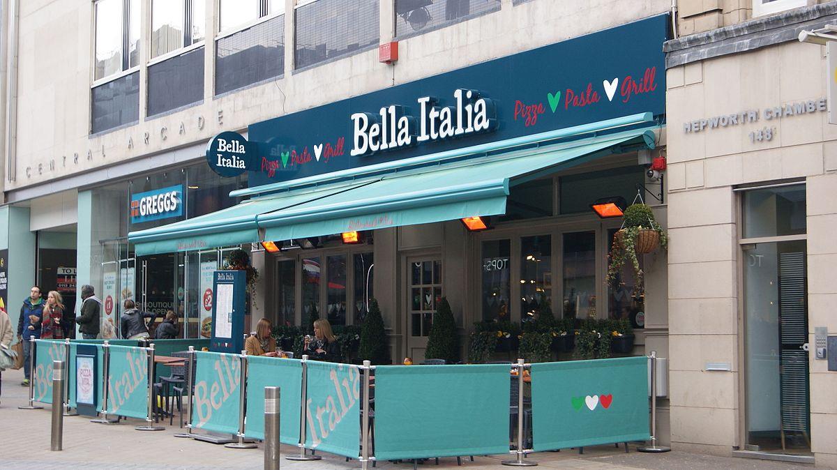Bella Italia vegan menu items