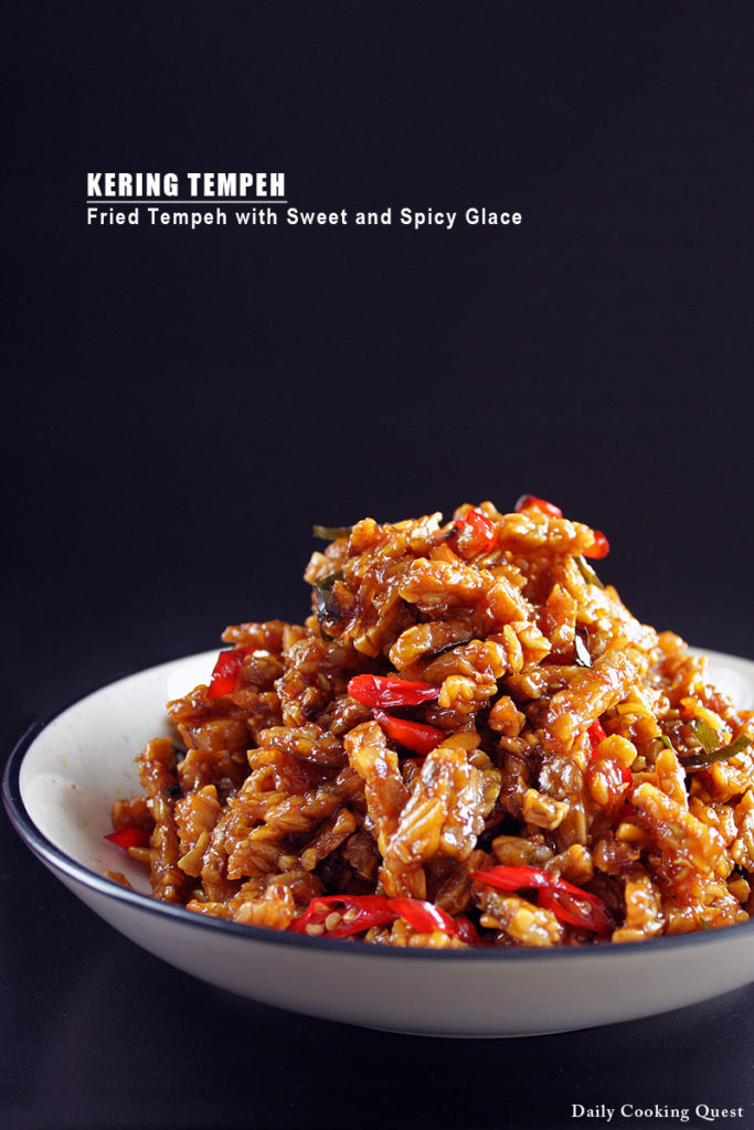 Kering Tempeh - Fried Tempeh with Sweet and Spicy Glace