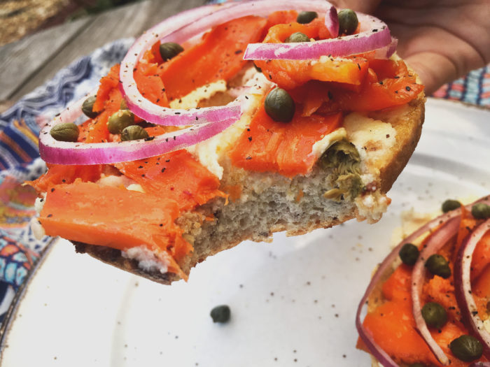 Vegan Carrot Lox & Cream Cheese