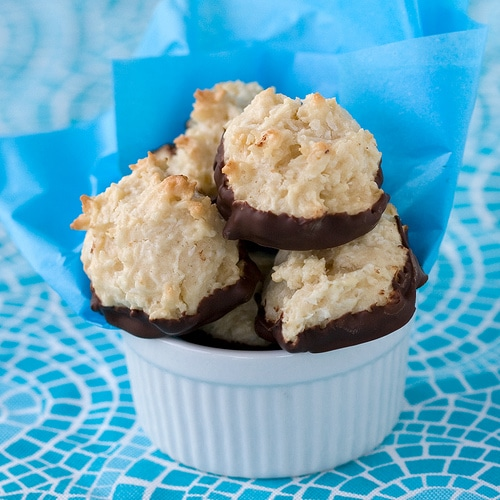 Chocolate Bottom Macaroon Cookies