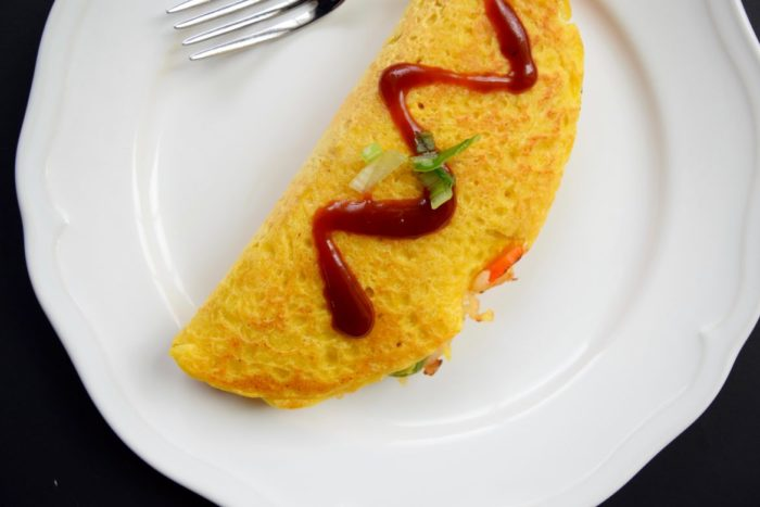Vegan Omurice (Japanese Fried Rice Omelette)