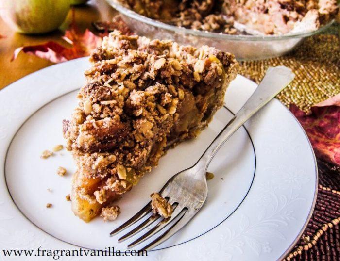Vegan Vanilla Maple Bourbon Apple Pie