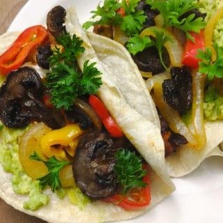mushroom bacon tacos