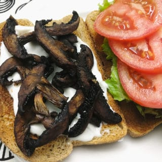 mushroom blt vegan recipe