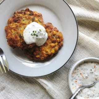 vegan corn fritters recipe