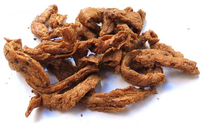 a sample of vegan jerky