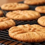 Vegan Peanut Butter Cookies, fresh from the oven