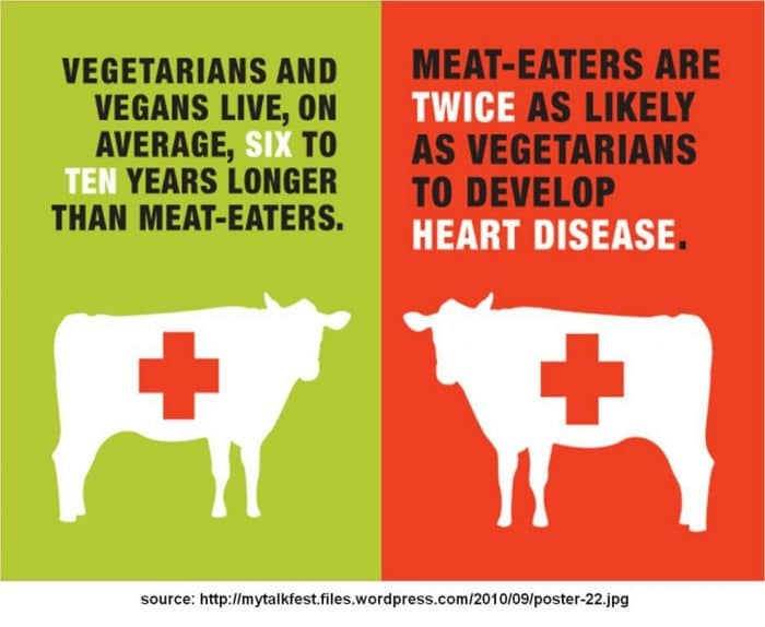 vegetarian vs meat eater