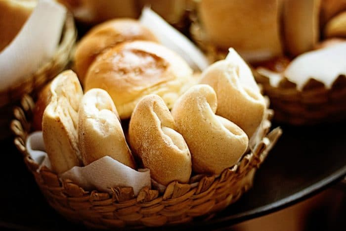bread on a basket